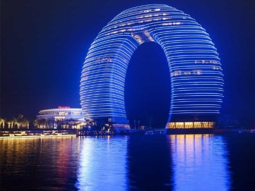 Take A Tour Of China's New Donut-Shaped Hotel