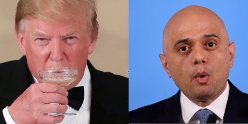 Sajid Javid says it was 'odd' that he was blocked from attending Trump banquet and 'I don't like it'