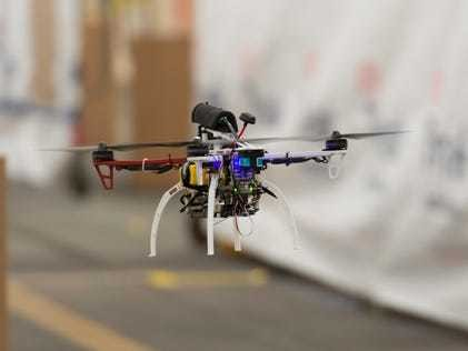 Watch this tiny DARPA drone fly 45 mph through a warehouse - Business Insider
