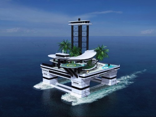 Forget mega yachts — this mobile private island just upped the ante on billionaire toys
