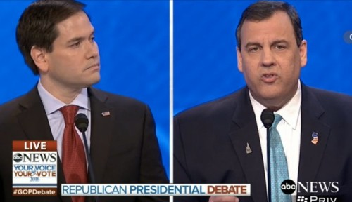 'They had to shame you into going back': Marco Rubio and Chris Christie exchange debate burns