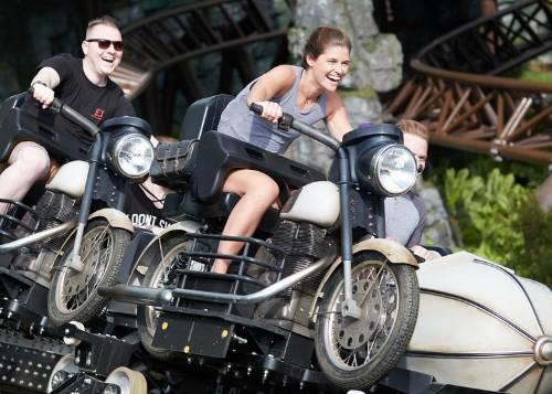 Hagrid's Magical Creatures Motorbike Adventure: Try the motorbike
