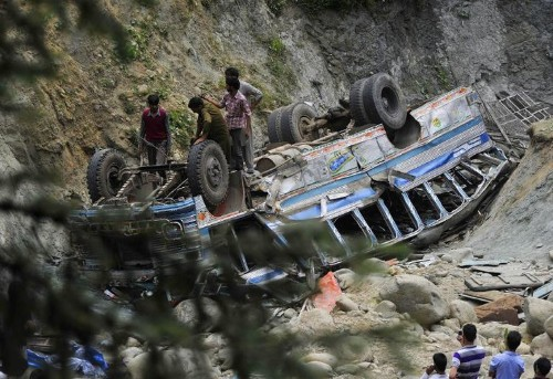 Over 50 feared dead as bus plunges into gorge in India