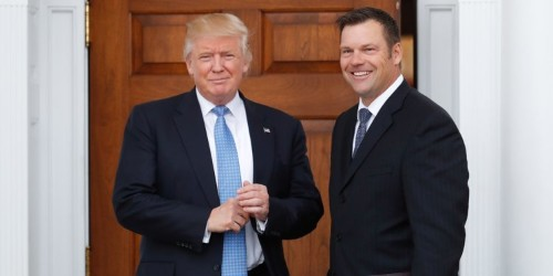 Trump's 'immigration czar' candidate Kris Kobach has a few demands