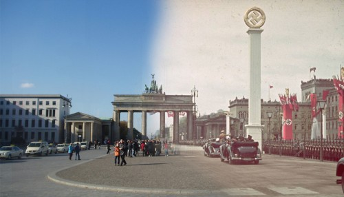 These haunting photos combine images of Berlin from World War II with the present day