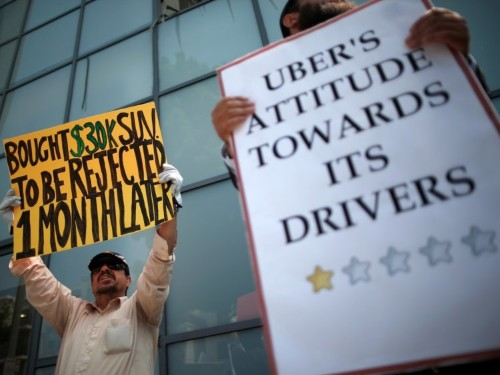 Two Uber drivers in New York are eligible for unemployment, which could threaten Uber's business model