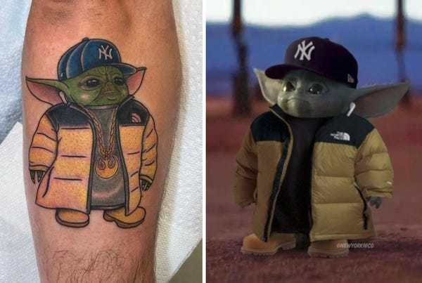 A man who got a 'Baby Yoda' meme tattoo explains what led him to that decision - Business Insider