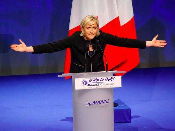Marine Le Pen would quit the presidency if French people voted against leaving the EU - Business Insider