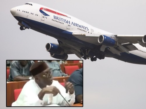 Superrich Nigerians are ordering pizza from London and having it delivered by British Airways, government minister says