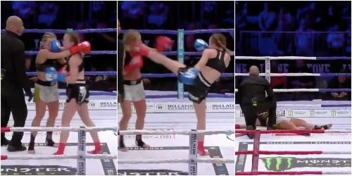 VIDEO: Watch Jade Jorand score brutal head kick KO in Milan - Business Insider