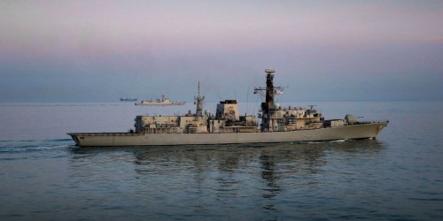 A British frigate followed a Chinese warship in the English Channel over the weekend