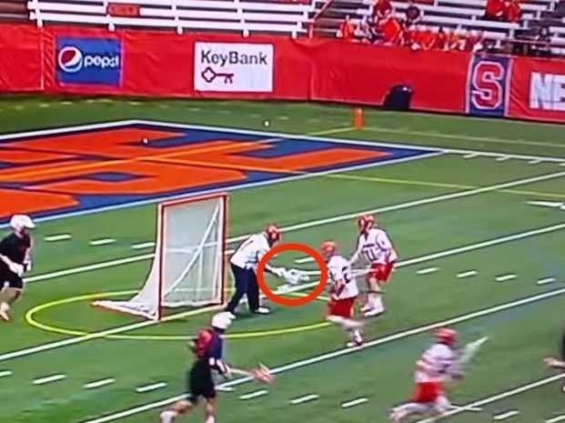 Syracuse lacrosse team fooled Virginia's defense with an awesome hidden ball trick for an easy goal