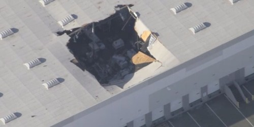 At least 3 people injured after F-16 crashes into warehouse