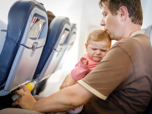 What to do about a screaming child on board, according to flight attendants