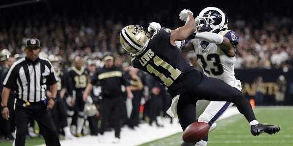 There is an ironic failure to the NFL's new pass interference review rules - Business Insider