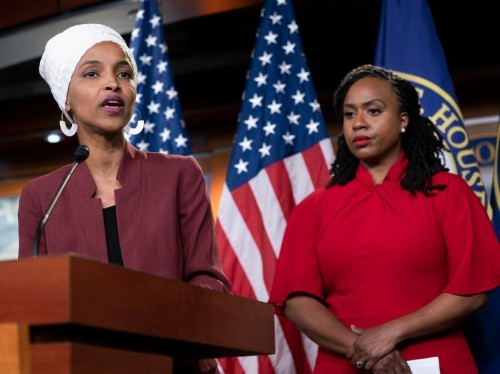 Ilhan Omar and Ayanna Pressley danced to Lizzo's 'Truth Hurts' at an event in Washington