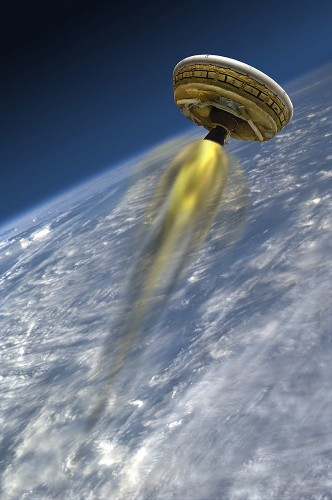 Big, beautiful photos of the giant flying saucer NASA is using to send humans to Mars