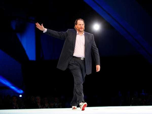 Salesforce spikes to an all-time high as Wall Street buys into its growth story - Business Insider
