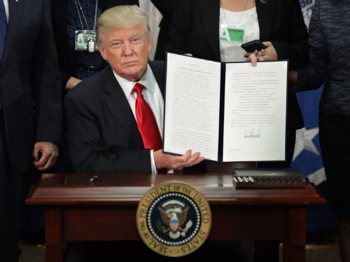 Trump's executive order on immigration includes a plan to publish a weekly list of crimes committed by 'aliens'