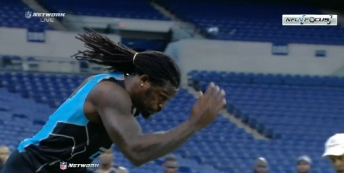 Jadeveon Clowney Runs Freakishly Fast At The NFL Combine