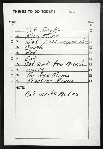 Everyone Should Probably Be Following Johnny Cash's To-Do List
