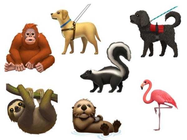 New emoji arrive for iPhones: Otter, gender-neutral people, and more - Business Insider