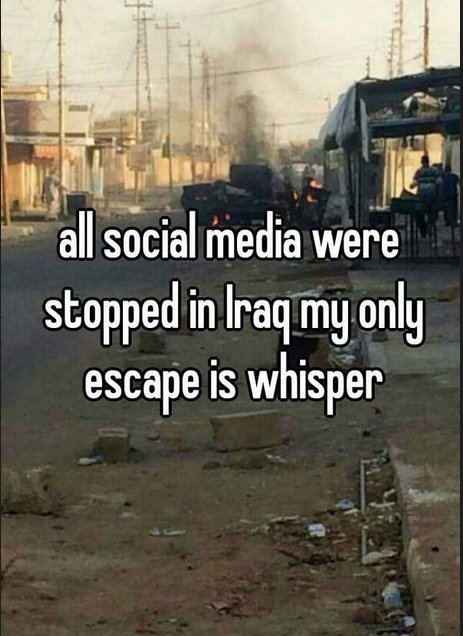 Iraqis Are Using Sharing App 'Whisper' To Express Their Angst Amid Social Media Blackout