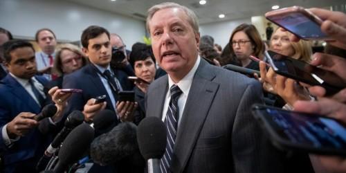 Lindsey Graham blames progressive Democrats in his defense of Trump