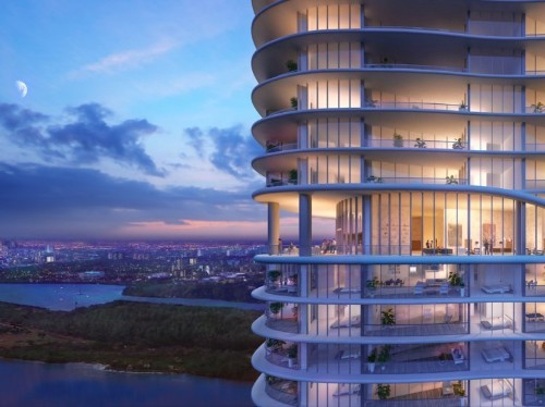 Construction on this Miami-area condo building hasn't even begun — and a penthouse already sold for $21 million