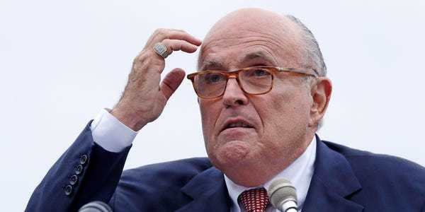 Guiliani's Twitter suspended for sharing Ukrainian official's number - Business Insider
