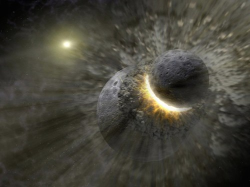 New evidence suggests the moon was formed in a head-on collision between Earth and another planet