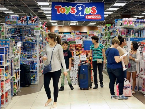 Toys R Us stores are slashing prices on Apple products as the toy giant prepares to shutter or sell all 735 locations across the US