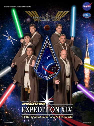 For 10 years NASA has been Photoshopping its astronauts into posters for everything from 'Star Wars' to 'Reservoir Dogs'