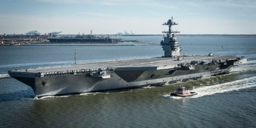 Trump said the US Navy's new aircraft carrier is the world's 'largest ship,' but these ships prove him wrong
