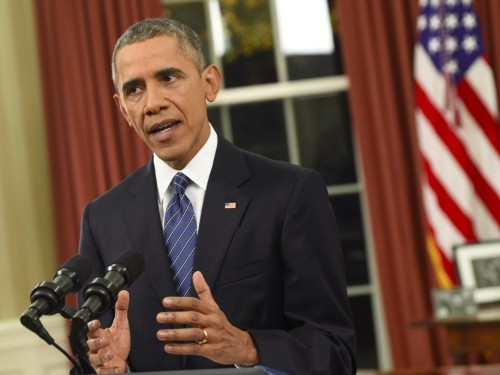 The White House made a correction to one thing Obama said in his big Oval Office address