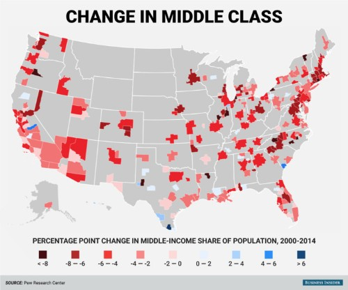 The middle class is vanishing in America's cities