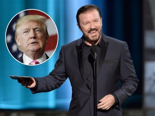 Ricky Gervais: Donald Trump's presidential campaign is 'a joke that got out of hand'