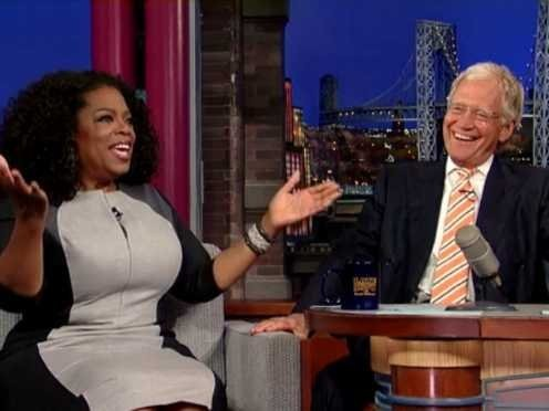 Oprah Appears On 'Late Show' With David Letterman, Jokes About Their 20-Year Feud