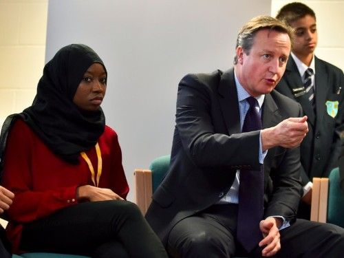 Cameron wants Muslim women to learn English, or be deported with their kids if they fail