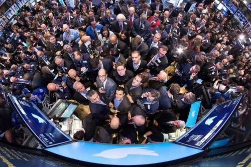 The Best Photo From Twitter's IPO Is This Amazing, Birds-Eye View Of The Founders