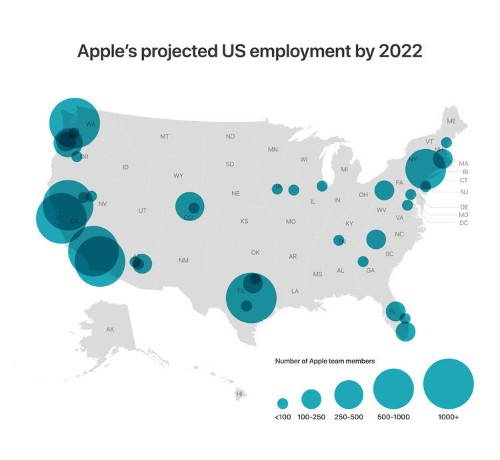 Apple isn't just building a new campus in Austin. Here's everywhere the tech giant is expanding.
