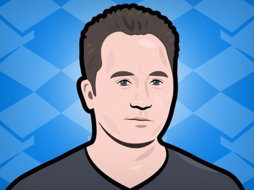 Dropbox CEO Drew Houston was a little unclear today on how well the company's business product is doing