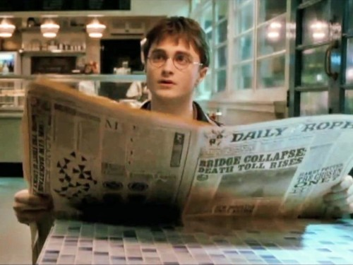 Harry Potter designers have been hiding a character in the movies' fake newspapers for years