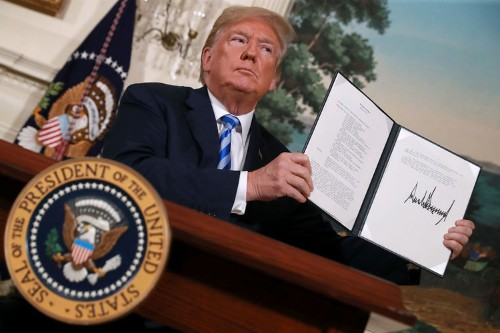 Trump levels a stark warning at Iran