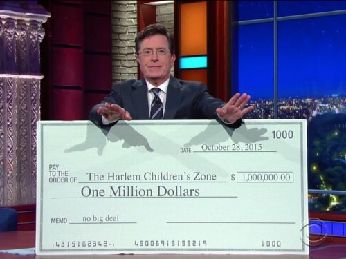 Stephen Colbert dares Donald Trump to donate $1 million to charity