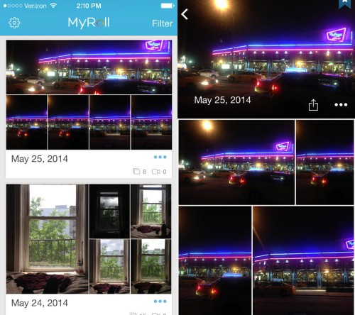 MyRoll Is A Beautiful Way To Organize Your Phone's Photos That Intelligently Learns Which Moments Matter Most