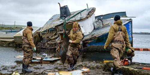 Navy EOD trains at Adak Alaska near Bering Strait amid Russia tensions