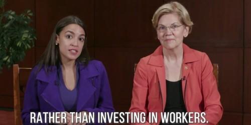Alexandria Ocasio-Cortez and Elizabeth Warren target Steve Mnuchin