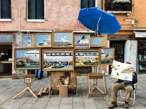 Banksy crashed the Venice Biennale with a stunning new piece