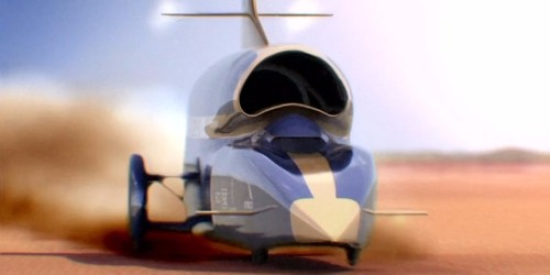 This supersonic car is built to go faster than the speed of sound